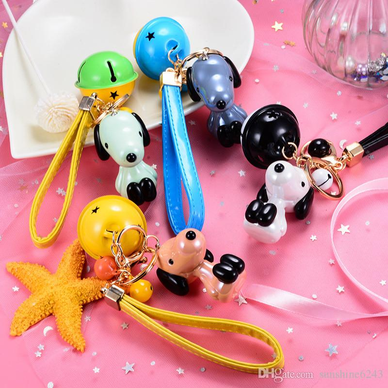 Creative new car keychain cute Snoopy dog Zodiac key chain bag pendant gifts small gifts free shipping