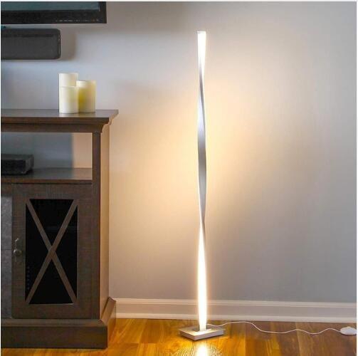 생활 방을위한 현대 LED 플로어 램프 가족 방을위한 서있는 극 빛을 칭찬을 얻으십시오 침실 사무실 Dimmable 점화