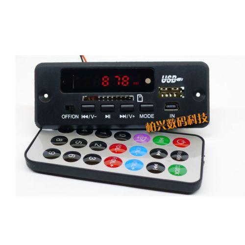 Freeshipping dc 12 V Bluetooth Alıcı Modülü MP3 / WMA / WAV dekoder kurulu Dijital LED oyuncu FM radyo için diy Amplifikatör hoparlör