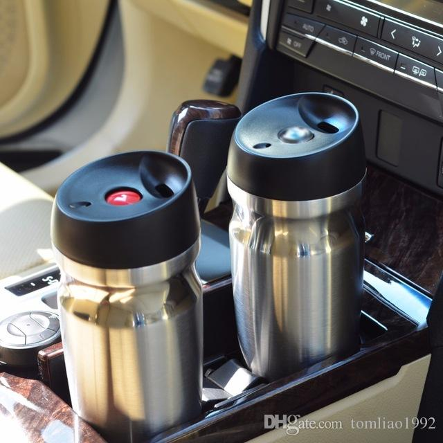 Vacuum Insulated Travel Mugs Double Wall Stainless Steel Tumbler Coffee Auto Cups Thermos Canteen Water Bottles Drop Shipping