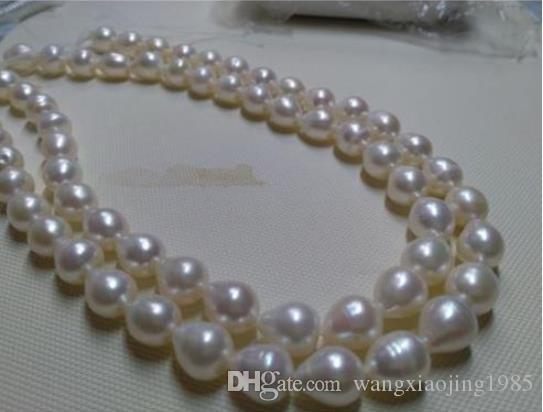 Wholesale - Genuine white akoya pearl necklace14K Gold Valentine's Day prese