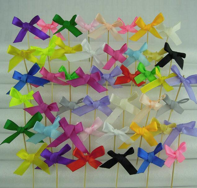 500pcs 무료 배송 장식 핑크 리본 보우 파티 피디 피그 컵 케잌 침례 세례식 cupcake 토퍼 베이비 샤워
