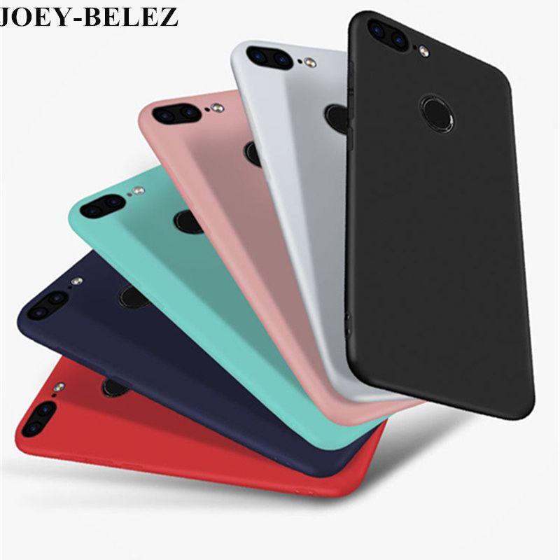 premium selection outlet store where can i buy Coque Telephone Portable Logement Pour Huawei Honor 9 Lite Cas Huawei  PSmart Cas Doux Silicone Candy Matte Couverture Cas Pour Huawei P Smart  5,65 ...