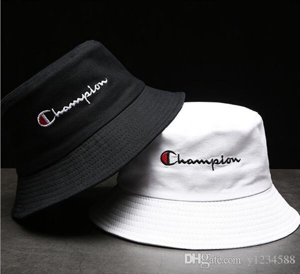 Diseñador de la marca de cuero de la letra del sombrero del cubo para hombre para mujer gorras plegables negro pescador playa parasol venta plegable hombre