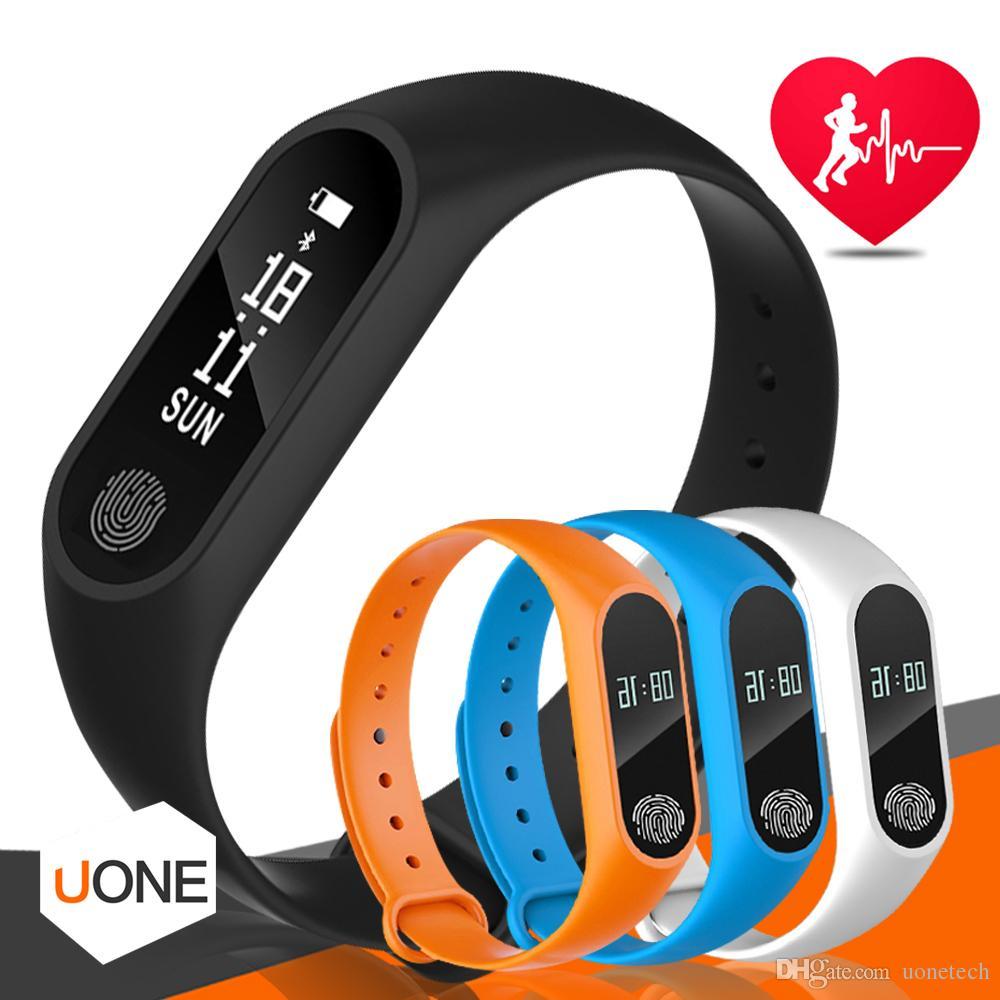 Inseguitore di fitness M2 Tracker di monitoraggio della frequenza cardiaca della fascia da polso Impermeabile Tracker di attività dell'inseguitore del braccialetto intelligente La chiamata ricorda al braccialetto di salute con l'OLED