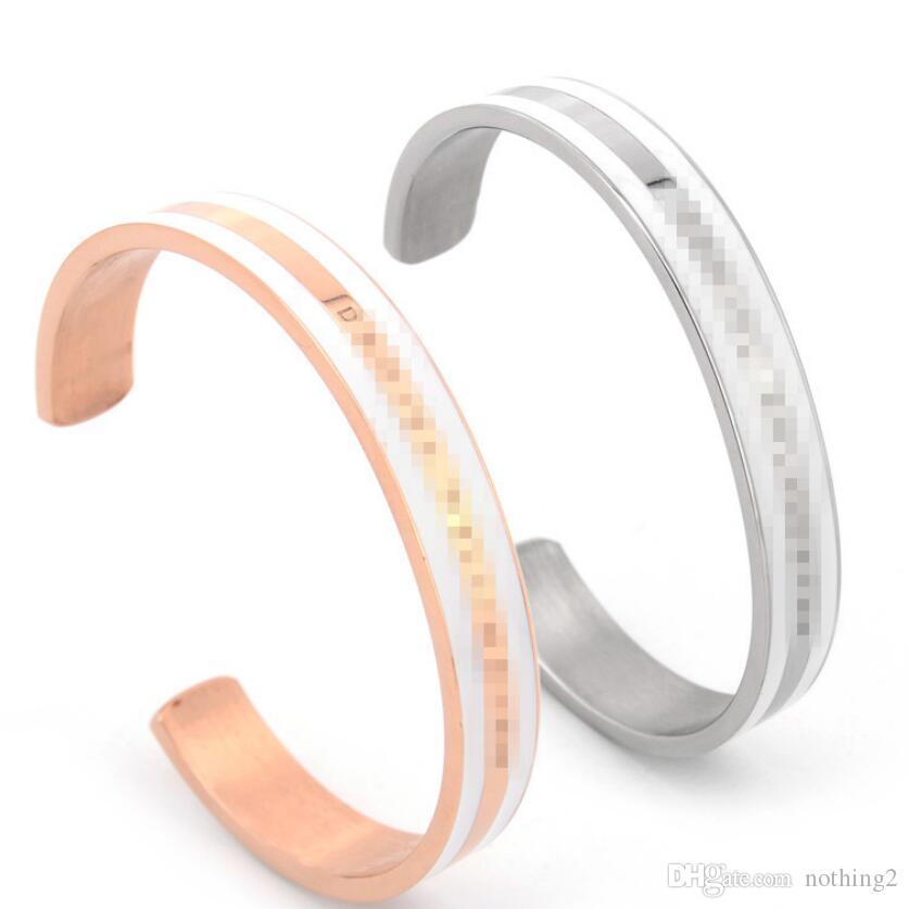 bracelets bijoux pour les femmes rose bracelets manchette en acier de titane en or ouvert gratuitement de mode chaud couple de l'expédition