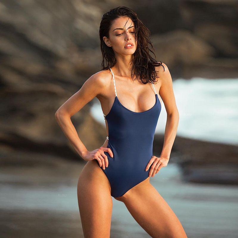 2018 Hot Esporte Swimwear Sexy Mulheres SEMPRE One Piece Biquíni Monokini Praia Swimsuit Swimwear Bandage Maiô