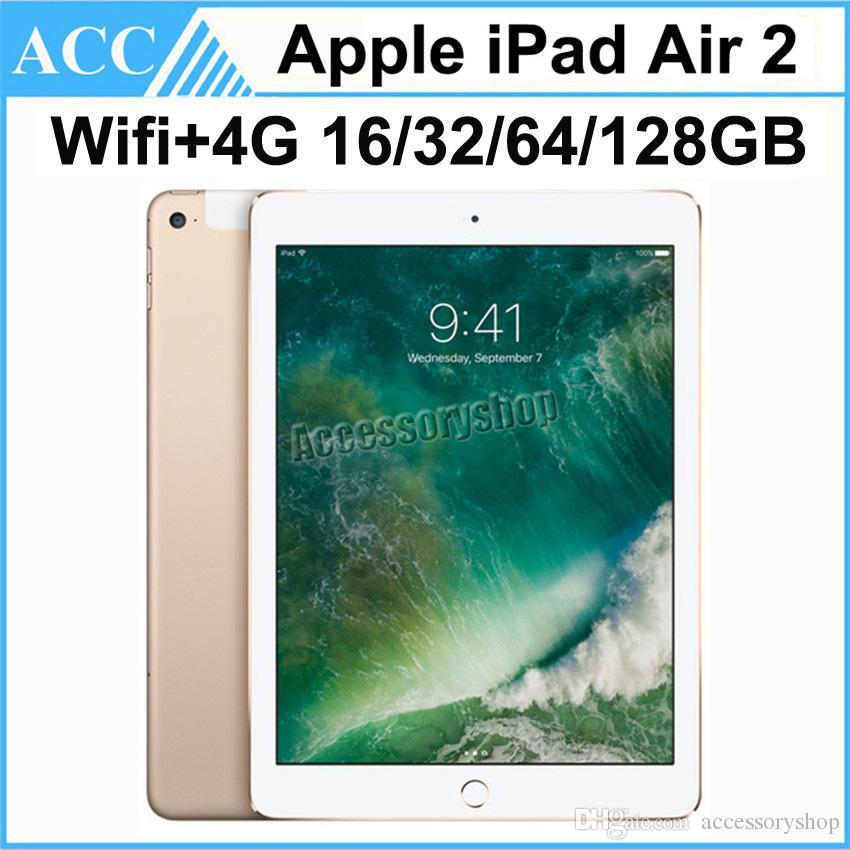 Recuperado Original da Apple iPad Air 2 iPad 6 WIFI + 4G Celular 16GB 32GB 64GB 128GB de 9,7 polegadas 1pcs Triplo Núcleo A8X Chip Tablet PC DHL