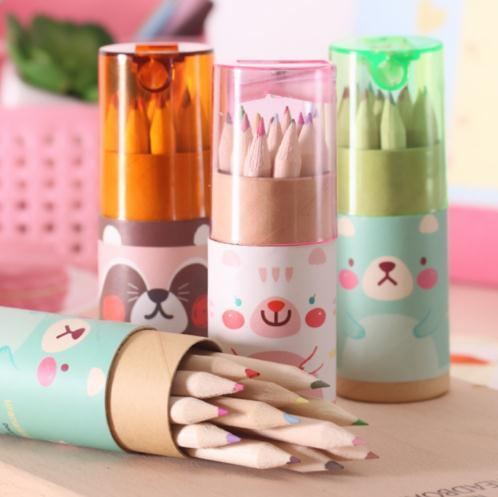 Multicolor Pencil 12 Colors Artist Professional Fine Drawing Painting Sketching Writing Drawing Pencil Box Cases Mini Stationary c524