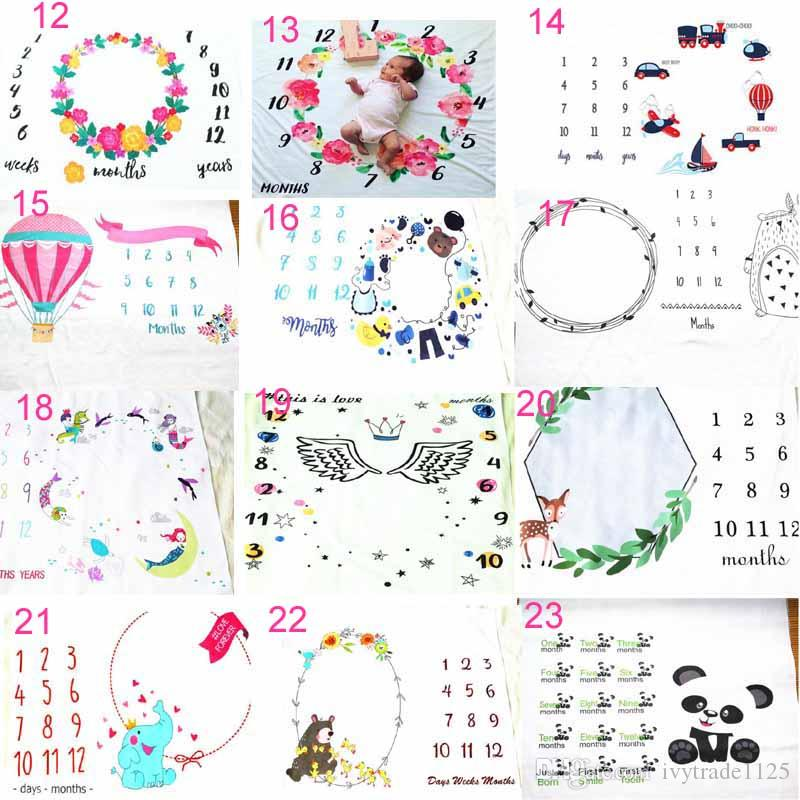 23 Styles Säugling Baby Fotografie Hintergrund Gedenken Decken Photographic Requisiten Letters Blume Animals Print Photographic Kleidung
