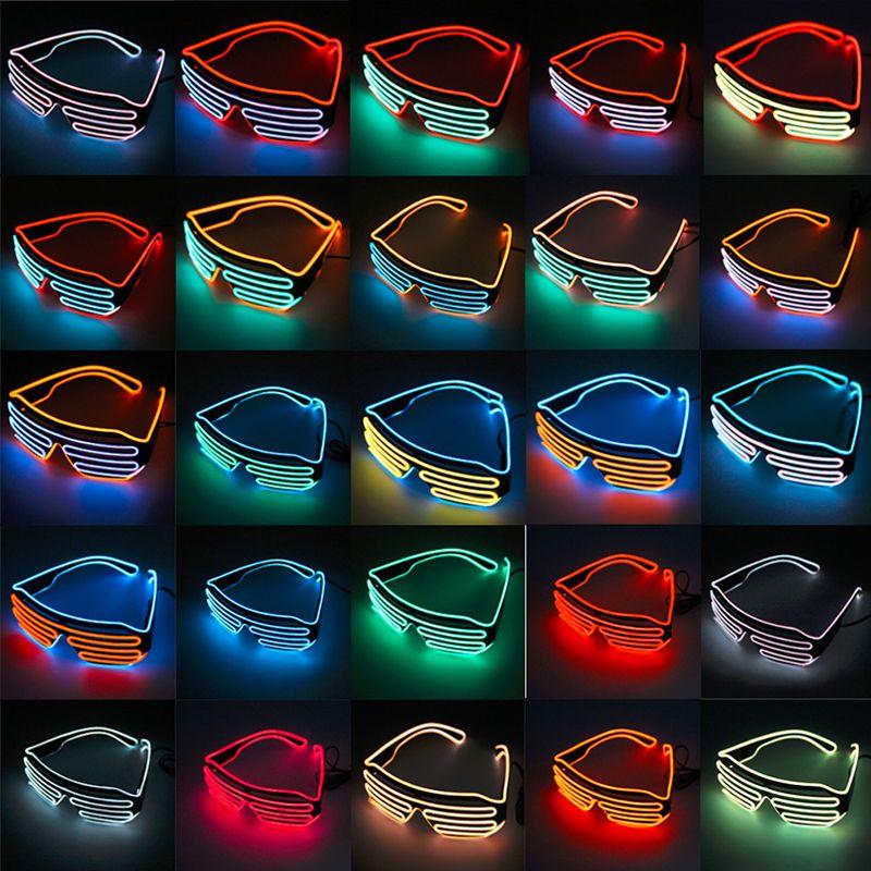 EL Wire Light LED Glasses Bright Light Party Glasses Club Bar Performance Glow Party DJ Dance Eyeglasses light up kids toys