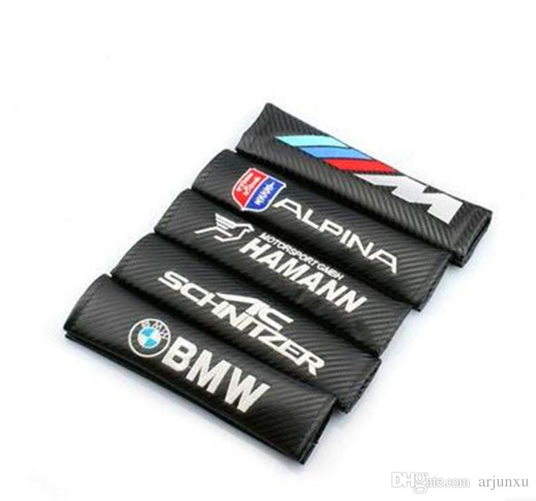 Cintura auto cintura per BMW Volkswagen Audi KIA mini in fibra di carbonio protezione spalla in pelle di sicurezza.