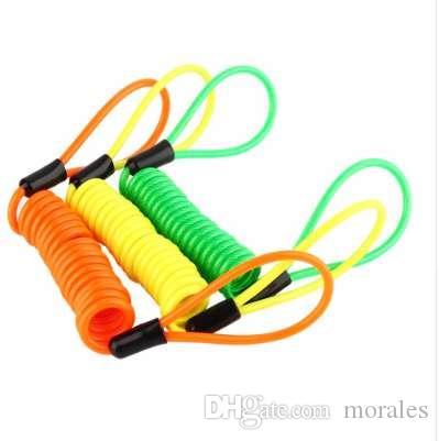 120 см сигнализации диск блокировки безопасности напоминание кабель Мотоцикл скутер велосипед мотоцикл Анти Вор безопасности инструмент оранжевый флуоресцентный зеленый