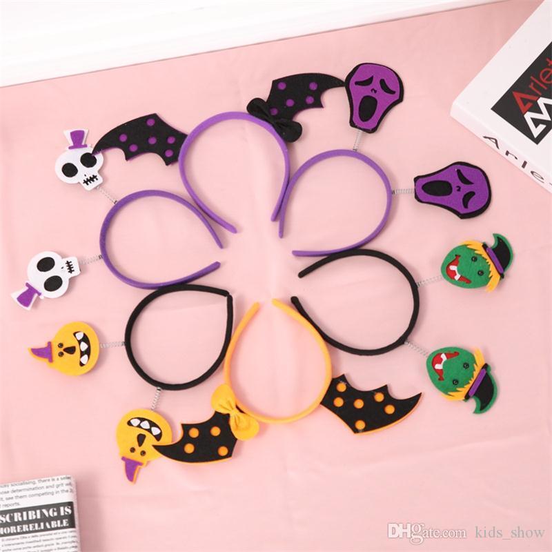 Girls Halloween Party Headwear Bat Pumpkin witch Hair sticks Novelty Children Adults Halloween Scary Headband Girls Hair Accessories
