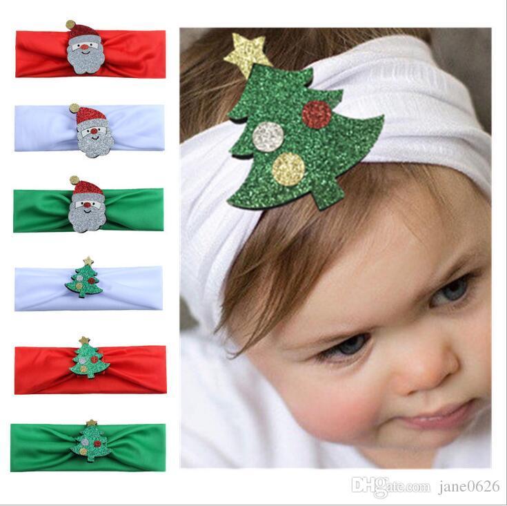 European and American children christmas new cartoon design Baby Christmas Ornament scarf fashion hair ornament 6 styles
