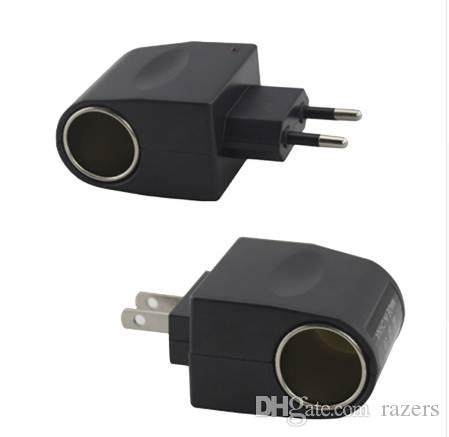 Plug UE 220 V AC de Energia para 12 V DC Adaptador Conversor de Isqueiro Do Carro DOS EUA Plug 110 V