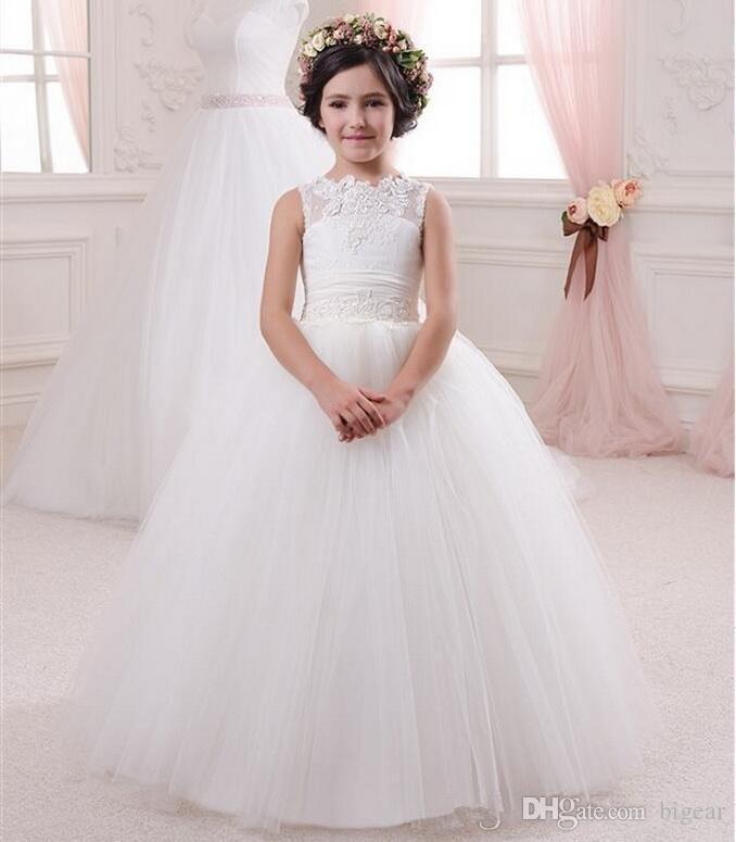 Vestido de la niña de la primera comunión del vestido de la primera comunión de Holi Muchacha
