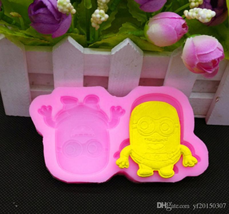 Stampi per dolci Cattivissimo Me Stampi per ghiaccio little yellow cartoon man stampo fondente stampo in silicone stampo per cioccolato