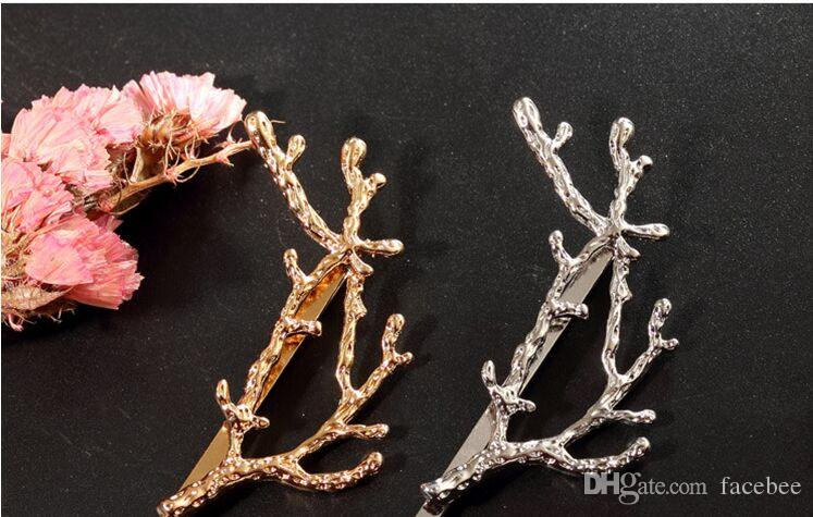 Wholesale Women Wedding Hair Jewelry Accessories Tree Hair Clip Trendy New Design Vintage Alloy Branches Hairpins zzh