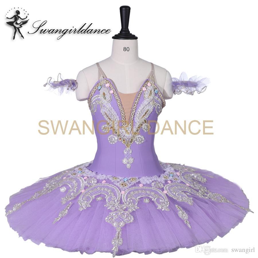 Adult Ballet Tutu Costume Dress Sleeping Beauty Lilac Fairy Silver Dance Platter