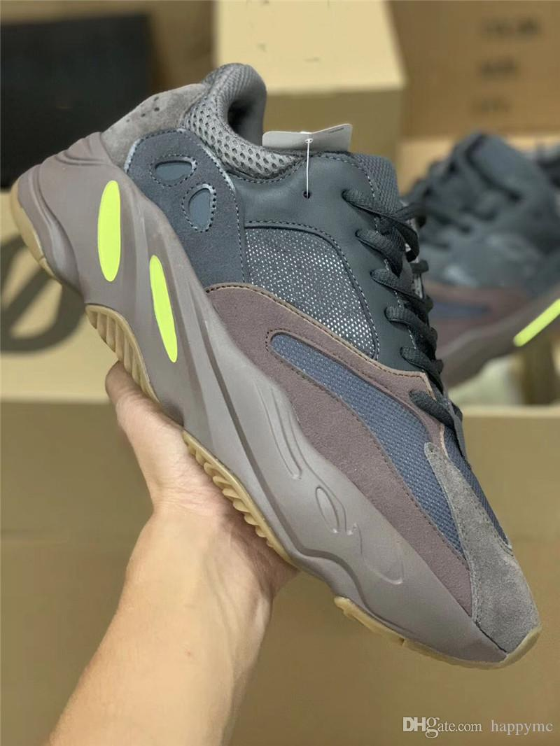 lowest price 0894c 90617 2018 2018 New 700 Mauve Kanye West Runner Wave Runner Purple 3m Sports  Sneakers Running Shoes Authentic Come With Original Box Ee9614 From  Happymc, ...