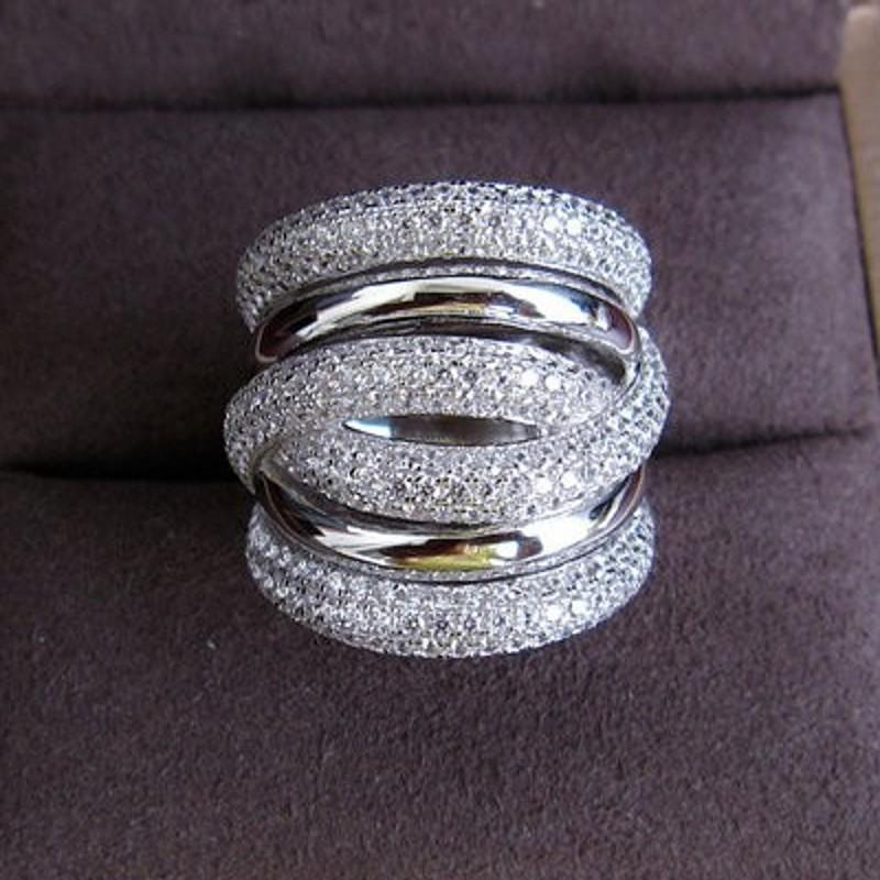 choucong Eternity Jewelry 236pcs Stone 5A Zircon stone 14KT White Gold Filled Women Engagement Wedding Band Ring Sz 5-11 S18101608