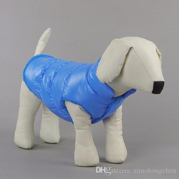 Kış Köpekler Pet Kedi yastıklı Yelek Coat Köpek Sıcak Aşağı Polar + Polyester Ceketler Giyim XS-XXXL