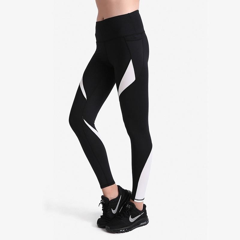 Classic Black&White Dancing Sports Tight Pants Women's High Waist Yoga Leggings Breathable Push Up Slim Pants