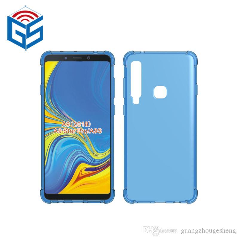 Custodia trasparente TPU per Samsung Galaxy A9 2018 A920F A9200 A9 Star Pro A9S trasparente