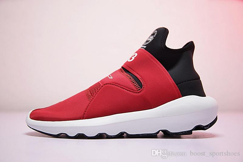 1264a72c3 ... High Quality Y-3 Y3 Suberou Men Women Slip On Running Shoes Black White  Red