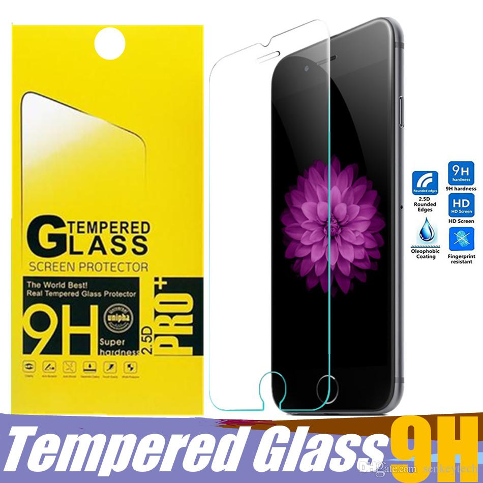 للحصول على اي فون الجديد XR Xs XS ماكس 6 7 8 زائد الزجاج المقسى حامي الشاشة المضادة للخدش فيلم ورقة الهاتف الخليوي حزمة