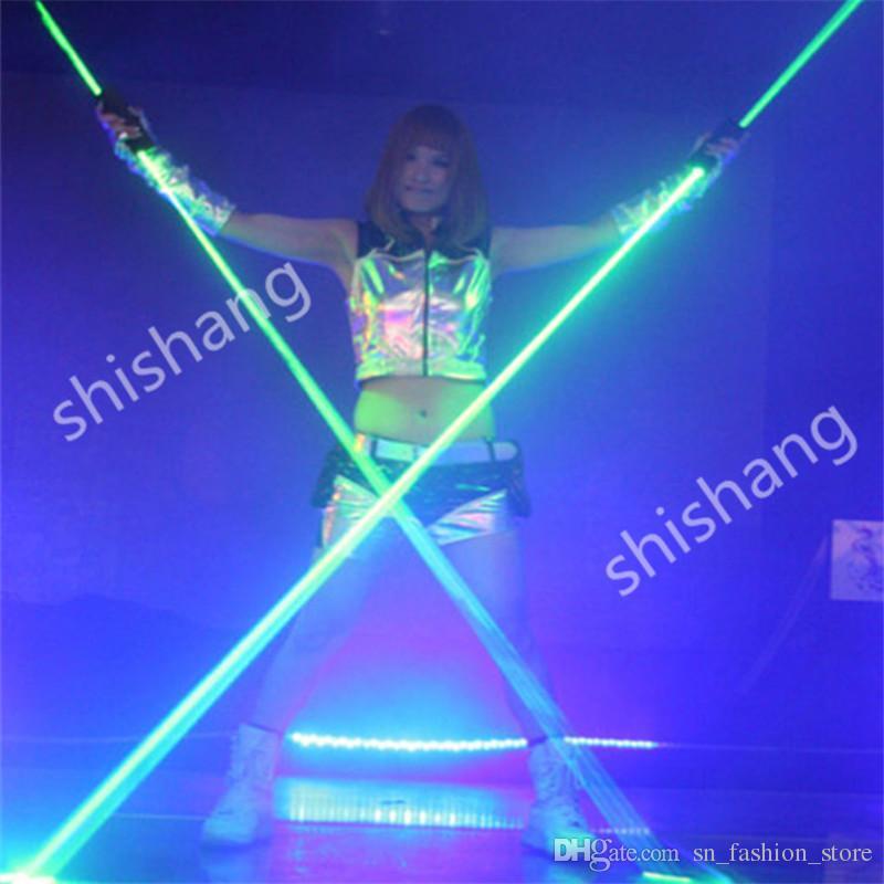 H0815 Hand laser sword green light laser man projector robot ballroom dance stage show wears dj singer bar club performance laser costumes
