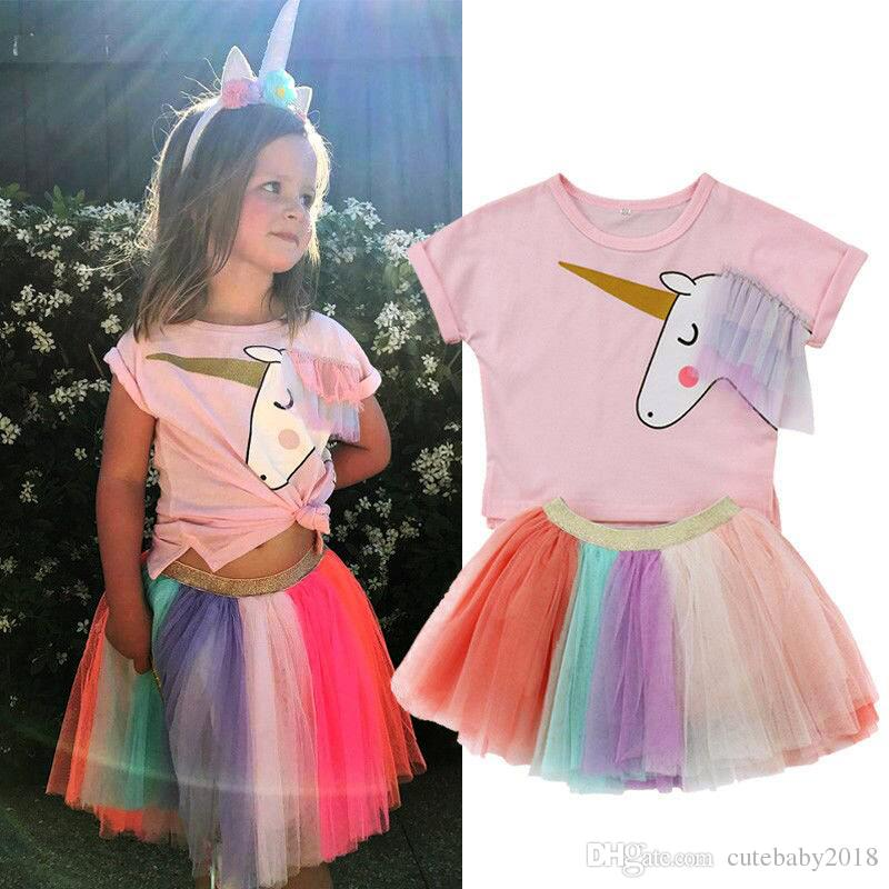 low price sale stable quality fast delivery 2020 Baby Girl Clothes Short Sleeve T Shirts Big Kids Princess ...
