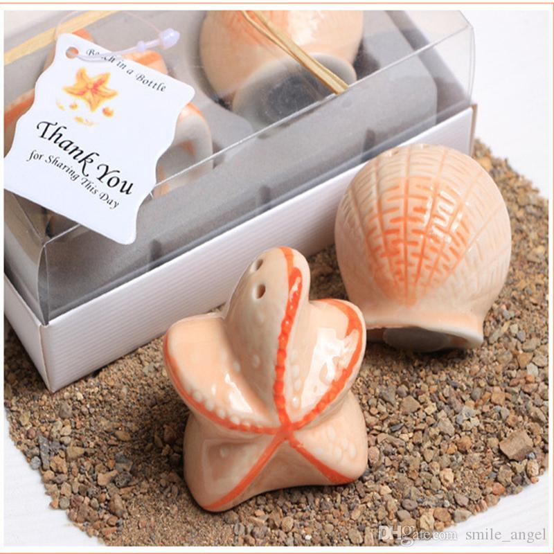 5 шт./лот новый классический творческий свадебные сувениры партия обратно подарки для гостей Морская звезда Shell приправа бутылки украшения горячий продавать