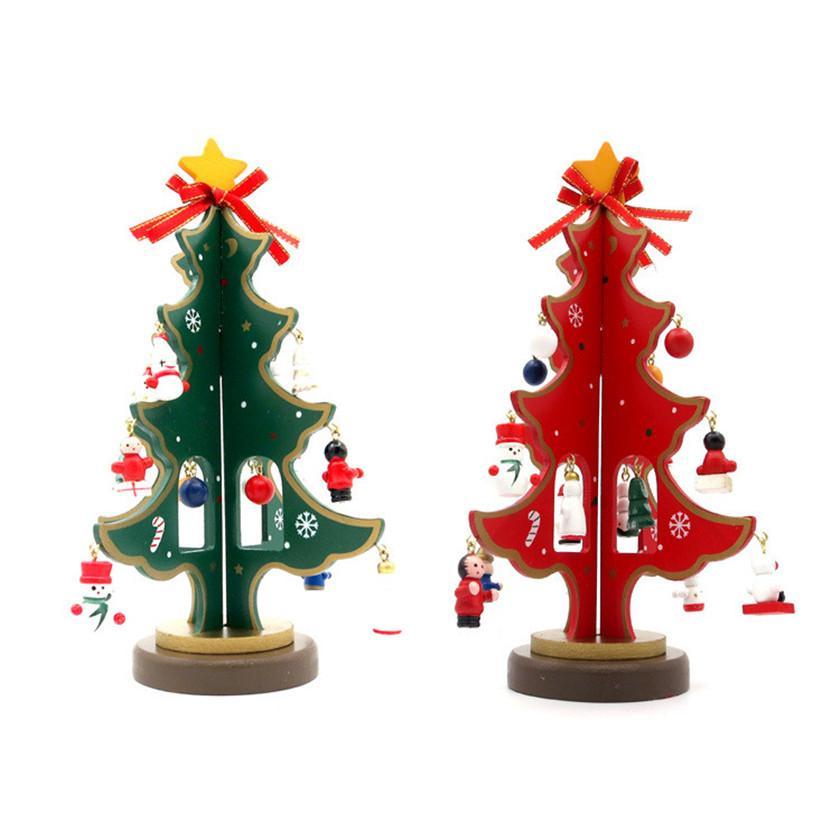 2017 Christmas necessities Hot Xmas Snow Tree 23cm/9inch Small Decoration Tree on Desk Christmas Trees 23*15cm B787