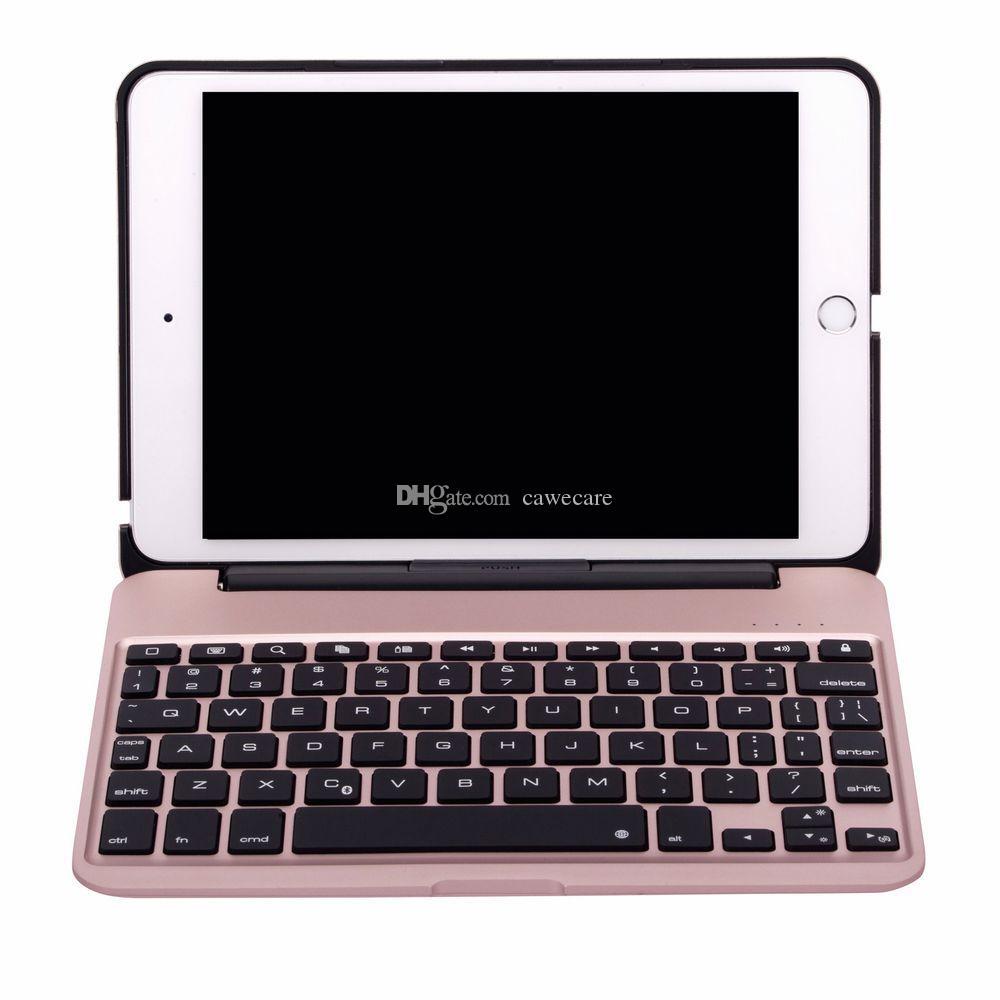 Pad Mini 4 Smart Cover Wireless Bluetooth 3.0 Keyboard Aluminum ABS 7 Colors Backlit C088 with 2800mAh Battery 4 Colors