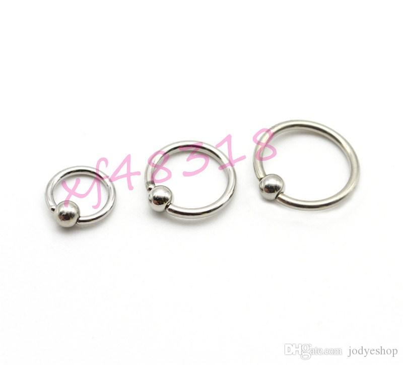 316L kirurgisk stålboll stängning ring bland storlek örhängen ögonbryn ring näsa piercing läppring