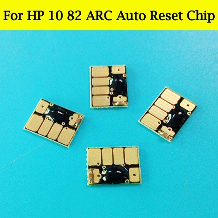 1 компл. Arc картридж чипы для HP 10 82 Auto Reset чип для HP Designjet 111 500 800 500ps 800ps 500plus 800plus принтер плоттер