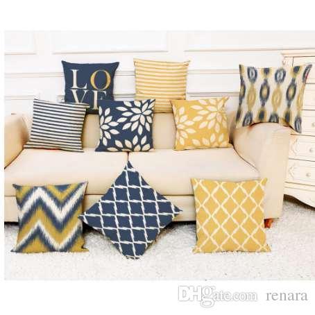 NUEVO Amor de Lino Geometría Rayas Throw Pillow Case Nordic Print Cojines Decorativos Para Sofá Cojín Del Asiento Funda Decoración 45 * 45 cm