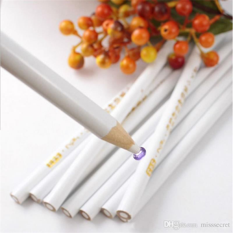DIY Nail Art Décoration bois Dotting Tools Crayon Pen Picker Outils de manucure White Nail Art Dotter