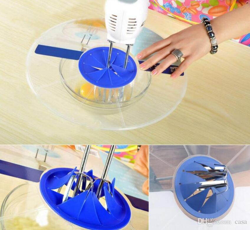 Plastik Yumurta Kase Whisks Ekran Kapak Yendi Yumurta Silindir Pişirme Sıçrama Guard Kase Kapakları Mutfak Su Geçirmez Kase Kapakları 500 adet