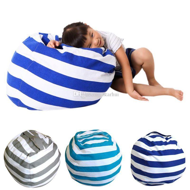 Fashion Storage Bean Bags Kids Plush Toys Beanbag Chair Bedroom Stuffed Animal Room Mats Portable Clothes Storage Bag 4 Colors WX9-168