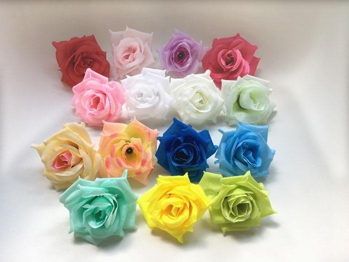 Toptan Ücretsiz Kargo 100 adet / grup ipek yapay çiçek El Yapımı ipek Düğün Dekorasyon Öpüşme Topu Için Gül Çiçek Başları 8 cm