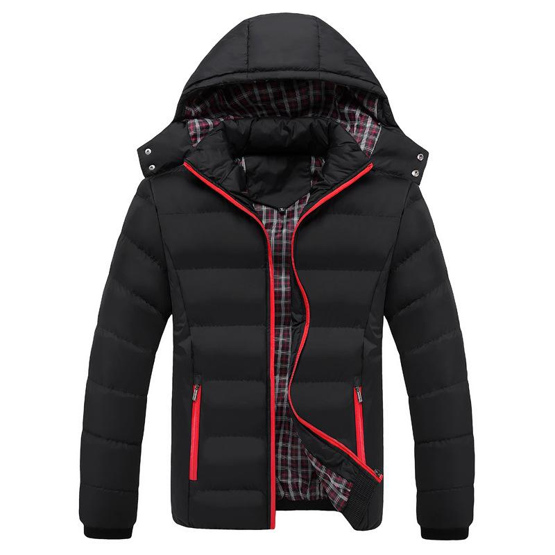 Parka Ceket Kış Kalınlaşmak Ceket Erkekler Moda Termal Pamuk Yastıklı Ceket Erkek Rahat Kapşonlu Parkas Hombre Sıcak Coat Dış Giyim 5XL