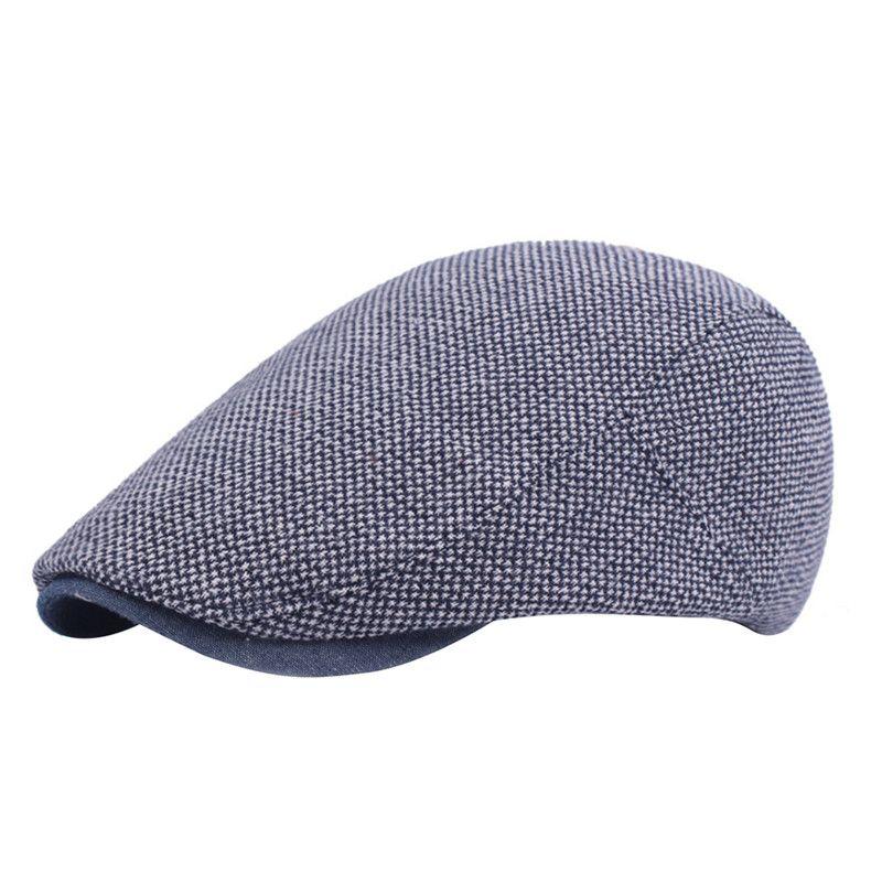 قبعة البيريه لربيع وصيف الرجال عارضة القبعات المتوسطة منتصف العمر القبعات الصلبة السفر قبعة ملونة