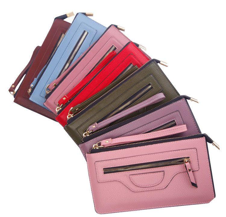 Kostenloser Versand! Schlüsseletui Reißverschluss Geldbörse Geldbörse aus Leder Damen Designer Geldbörse
