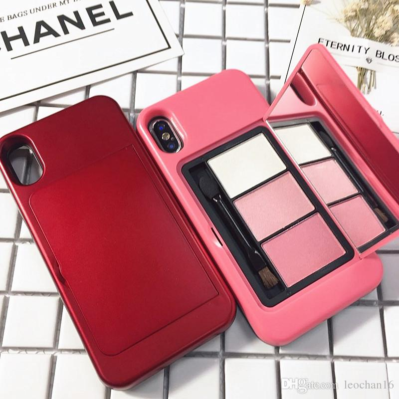 lowest price c185f 7d1af Cosmetic Makeup Back Cover Mirror Phone Case Portable Slim Shell For IPhone  X 6 7 8 10 6s Plus Customized Cell Phone Case Otter Cell Phone Cases From  ...