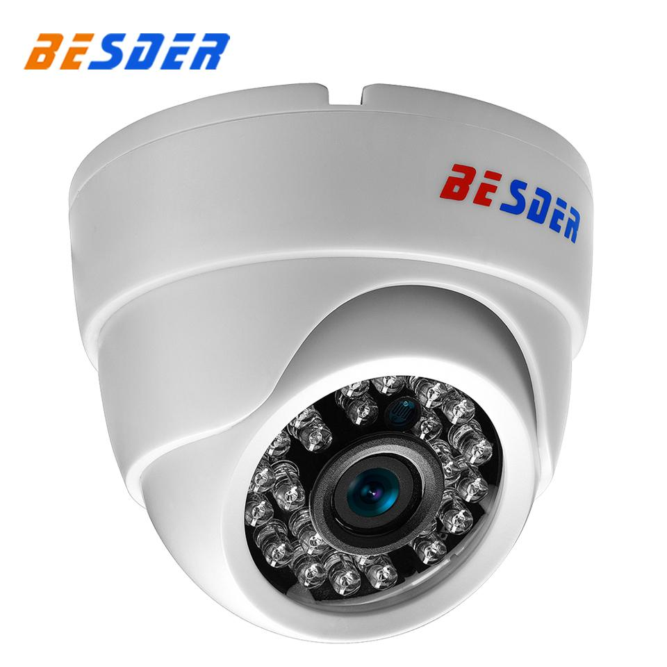 BESDER 2.8mm широкоугольный IP-камера 720P 960P 1080P P2P H.264 Onvif RTSP 48V POE Малый CCTV Крытый купол видеонаблюдения камеры
