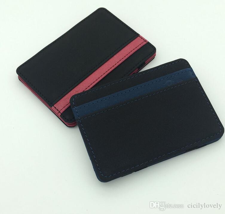South Korea Styles Magic Wallet Men Women Purse Magic Money Clips Creative Wallet Card Case Mini Slim Wallet