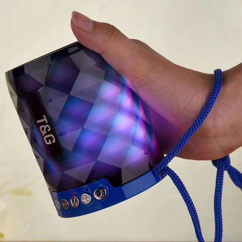 TG155 Colorful LED Bluetooth Mini Speaker Wireless Portable Soundbox Stereo Hifi Speaker with Night Light Loudspeaker for Computer Laptop